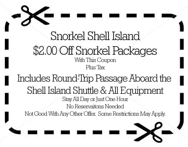 2 dollars off snokel package